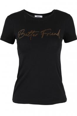 Дамска тениска BETTER FRIEND черна