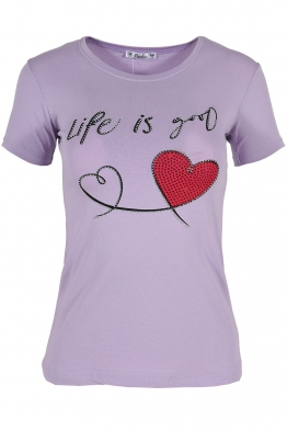 Дамска тениска LIFE IS GOOD лилава