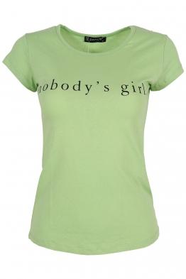 Дамска тениска NOBODY зелена