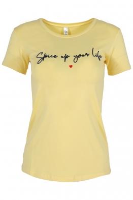 Дамска тениска SPICE жълта