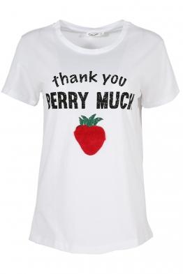 Дамска тениска STRAWBERRY бяла