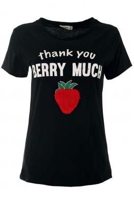 Дамска тениска STRAWBERRY черна