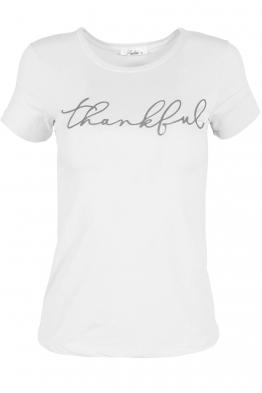 Дамска тениска THANKFUL бяла