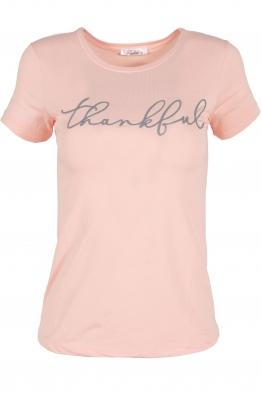 Дамска тениска THANKFUL ябълков цвят