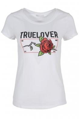Дамска тениска TRUE LOVELY бяла