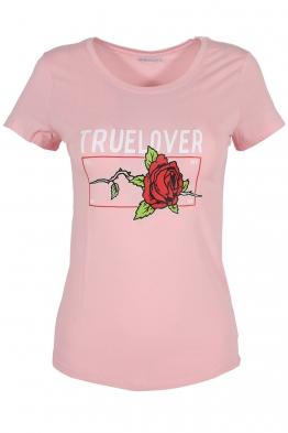 Дамска тениска TRUE LOVELY розова