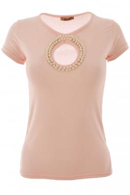 Дамска тениска МАДМОАЗЕЛ розова