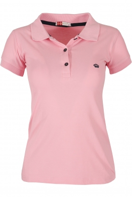 Дамска тениска МОР с якичка розова