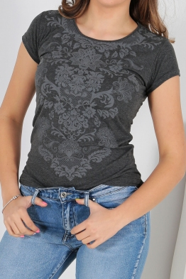 Дамска тениска АННА графит