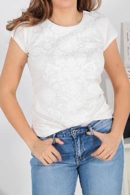 Дамска тениска АННА екрю