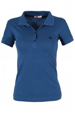 Дамска тениска МОР с якичка синя