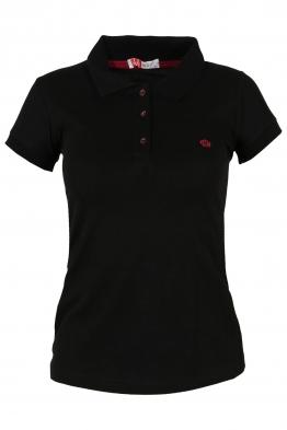 Дамска тениска МОР с якичка черна