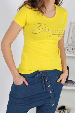 Дамска тениска BONJOUR жълта