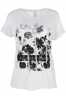 Дамска тениска BUTTERFLY бяла