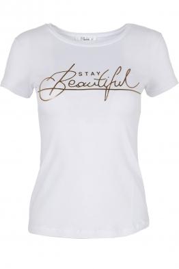Дамска тениска BEAUTIFUL бяла