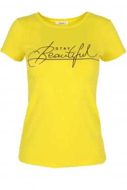 Дамска тениска BEAUTIFUL жълта