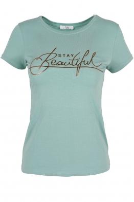 Дамска тениска BEAUTIFUL резида