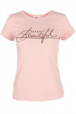 Дамска тениска BEAUTIFUL розова