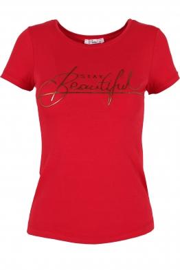 Дамска тениска BEAUTIFUL червена