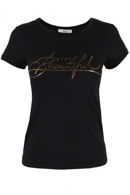 Дамска тениска BEAUTIFUL черна