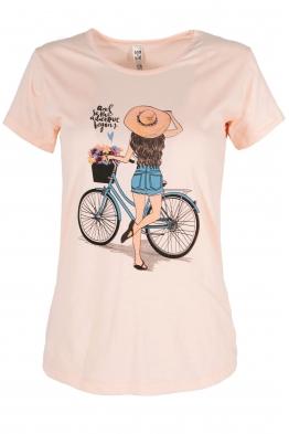 Дамска тениска BIKE ябълков  цвят