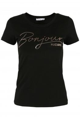 Дамска тениска BONJOUR черна