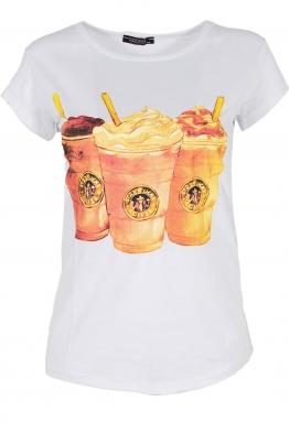 Дамска тениска COFFEE бяла