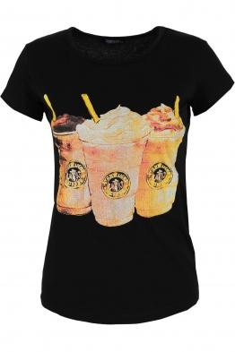 Дамска тениска COFFEE черна