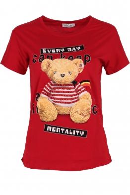 Дамска тениска EVERY DAY червена