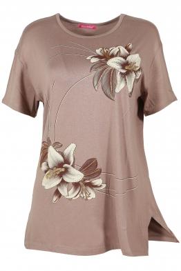 Дамска тениска MISS MELISA А-1 бежова