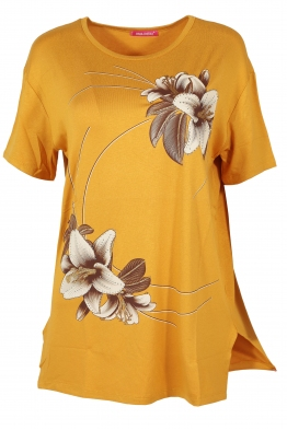 Дамска тениска MISS MELISA А-1 горчица