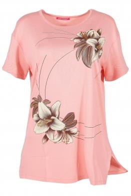Дамска тениска MISS MELISA А-1 ябълков цвят