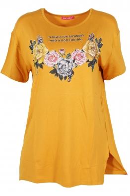 Дамска тениска MISS MELISA B-1 горчица