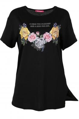 Дамска тениска MISS MELISA B-1 черна