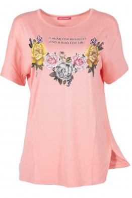 Дамска тениска MISS MELISA B-1 ябълков цвят