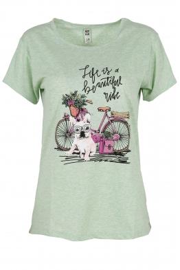 Дамска тениска MY DOG резида