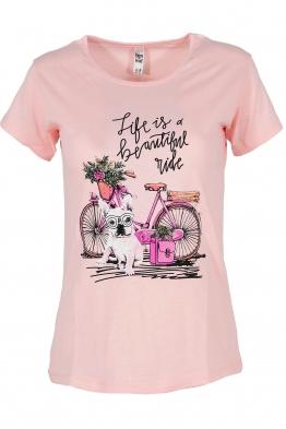 Дамска тениска MY DOG розов
