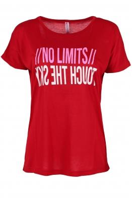 Дамска тениска NO LIMITS червена