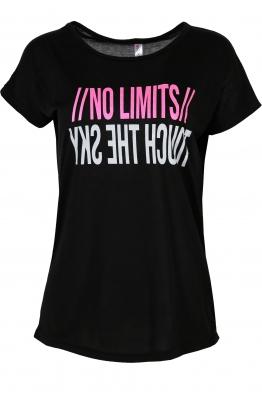 Дамска тениска NO LIMITS черна