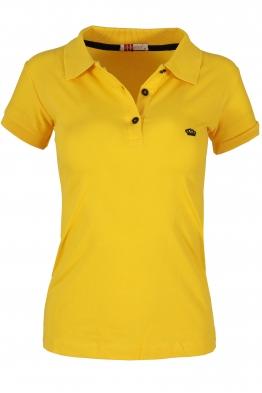 Дамска тениска МОР с  якичка  жълта