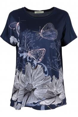 Дамска блуза LE 3783 тъмно синя
