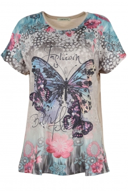 Дамска блуза LE 3832 бежова