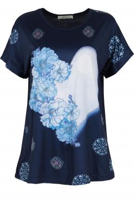 Дамска блуза LE 3837 тъмно синя