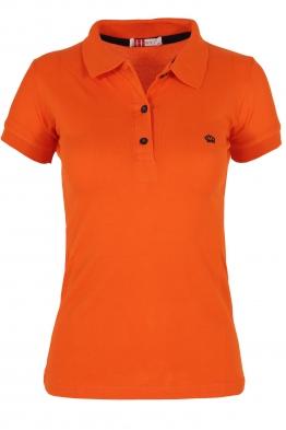 Дамска тениска МОР с  якичка оранж