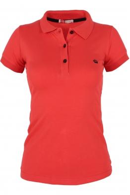 Дамска тениска МОР с якичка корал