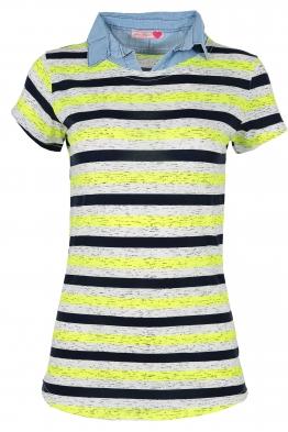 Дамска тениска с дънкова яка DENISA А-1