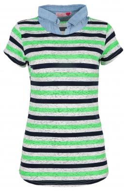 Дамска тениска с дънкова яка DENISA А-2
