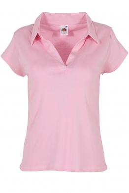 Дамска тениска с якичка КАЯ розова