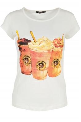 Дамска тениска COFFEE екрю