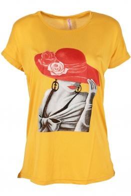 Дамска тениска LADYS жълта